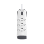 12-outlet Surge Protector with 8 ft Power Cord wit