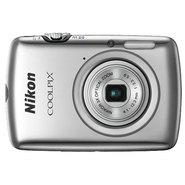 Nikon Coolpix S01 Silver 10.1 MP 3x Zoom Ultra Com
