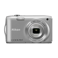 Nikon COOLPIX S3300 Silver 16 MP 6X Optical Zoom D
