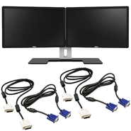 Dell Ultrasharp 23 Dual Monitor Bundle - MDS14 wit