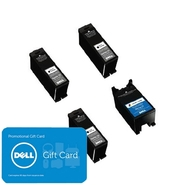 Dell Series 23 4 pack ink bundle: 3 x Single Use H