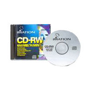 4x 650MB 74 Minute CD-RW 10-PK with Slim Jewel Cas