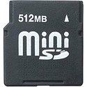 512MB 11P MiniSD Mini Secure Digital Card w/ Adap