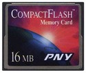 16MB 50p CF CompactFlash card 7/2x w/PNY Label bu