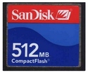 512MB 50p CF CompactFlash Card Standard Speed  Re