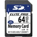 64MB 9p SD Secure Digital Card (w/Blue,Green, yel