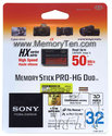 32GB 10p Memory Stick Pro-HG Duo HX 50MB/s w/o Ad