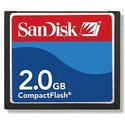 2GB 50P CF CompactFlash Card Sandisk new, CRW