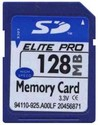 128MB 9p SD Secure Digital Card 11/4 MBs 76x w/ E