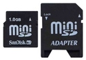 1GB 11p MiniSD Mini Secure Digital Card w/ Adapte
