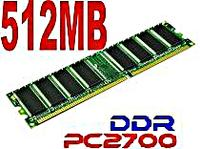 512MB PC2700 DDR