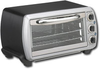 - 06 Cu Ft Convection Toaster Oven - Black/Silver
