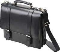 - Business Leather Laptop Briefcase - Black