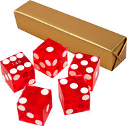 - A Grade Serialized Casino 5-Dice Set - Red