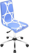 - Printed Circles Wood Office Chair - Blue