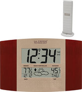 - Atomic Digital Wall Clock - Cherry