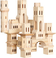 - 69-Piece Wooden Castle Block Set