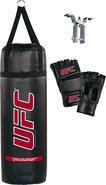 - Heavy Bag Set (3-Piece) - Black/Red