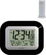 - WS-8115U-B Atomic Digital Wall Clock - Black