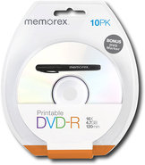 - 10-Pack 16x Printable DVD-R Disc Blister