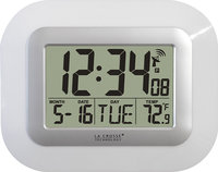 - Atomic Digital Wall Clock - White