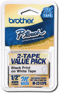 Brother - 1/2   Tape for Select P-Touch Electronic