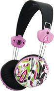 - Sophia Orchid Headphone - Black/Pink/Green