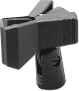 - Clothespin-Style Microphone Clip - Black