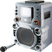 GPX - Party Machine CD+G Karaoke System with 5-1/2