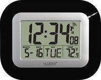 - Atomic Digital Wall Clock - Black