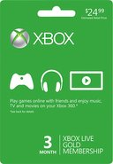 - Xbox LIVE 3-Month Gold Membership