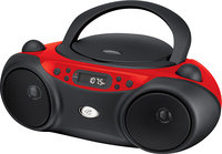 - CD/CD-R/RW Boombox with AM/FM Radio - Red