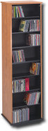 - Large-Capactiy Multimedia Storage Rack - Oak