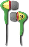 - Smokin' Bud Ear Bud Headphones - Green/Yellow/Re