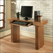 - Giovanni Computer Desk - Light Brown