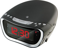 - AM/FM CD/CD-R/RW Dual-Alarm Clock Radio - Black