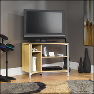 - Chatter 40'' Studio Edge Panel TV Stand in Rice
