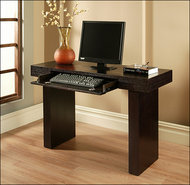- Giovanni Computer Desk - Dark Brown