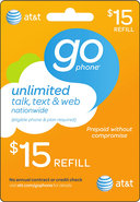 - $15 Prepaid Wireless Airtime Card