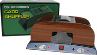 - 1-2 Deck Wooden Card Shuffler