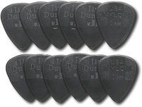 - Nylon Standard Guitar Pick (12-Pack) - Black