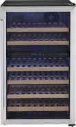- 38-Bottle Wine Cellar - Black/Stainless-Steel