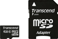 - 4GB microSDHC Class 6 Memory Card
