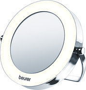 - Lighted Pocket Mirror - White/Chrome