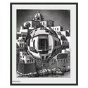 Balcony by Escher Framed Print - 25.5 x 21.75