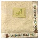 Saying Blanket Crib Throw in Cream - Grandma Loves
