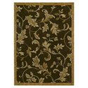 Home Nylon Garden Gate Dark Brown Rug - Rug Size: 
