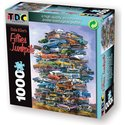 Jigsaw Puzzle 1000 Pieces 19 X26.5 -Fifties Junkpi