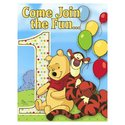 Disney Pooh and Pals 1st Birthday Invitations