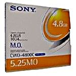 SONY 5.25  4.8 GB WORM Magneto Optical Disk, Part